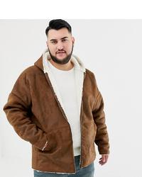 Veste en peau de mouton retournée marron ASOS DESIGN