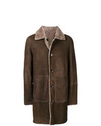Veste en peau de mouton retournée marron Desa 1972