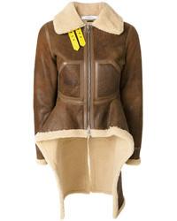 Veste en peau de mouton retournée marron Givenchy