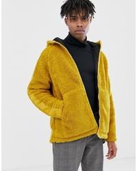 Veste en peau de mouton retournée moutarde ASOS DESIGN