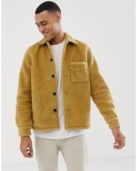 Veste en peau de mouton retournée moutarde Nudie Jeans