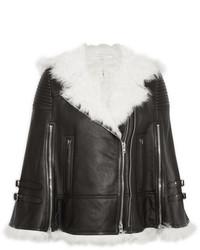 Veste en peau de mouton retournée noire et blanche Givenchy