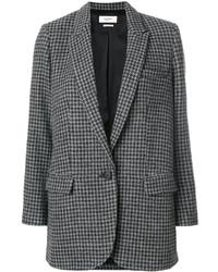 Veste en pied-de-poule grise foncée Etoile Isabel Marant