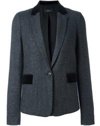 Veste en tweed à carreaux gris foncé Joseph