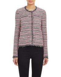 Acheter veste en tweed à carreaux rose femmes: choisir