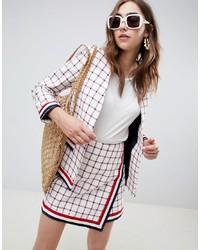Veste en tweed blanche ASOS DESIGN