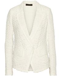 Veste en tweed blanche Donna Karan