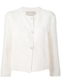Veste en tweed blanche Ermanno Scervino