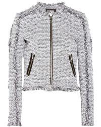 Veste en tweed blanche Karl Lagerfeld