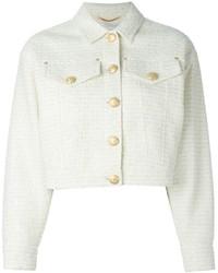 Veste en tweed blanche Moschino