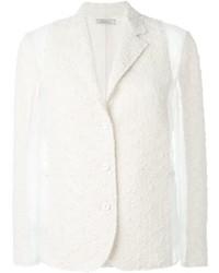 Veste en tweed blanche Nina Ricci