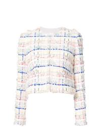 Veste en tweed blanche Thom Browne