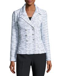 Veste en tweed bleu clair
