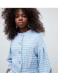 Veste en tweed bleu clair Asos Petite