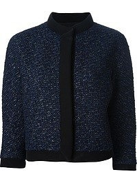 Veste en tweed bleu marine