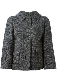 Veste en tweed gris foncé Dolce & Gabbana