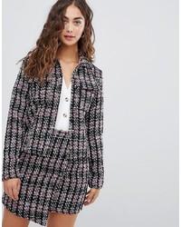 Veste en tweed gris foncé Glamorous