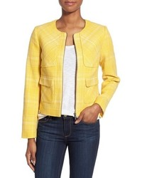 Veste en tweed jaune