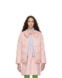 Veste en tweed matelassée rose Gucci