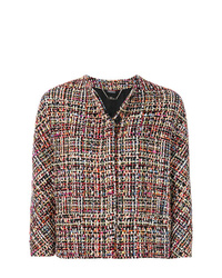 Veste en tweed multicolore Alexander McQueen