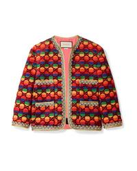 Veste en tweed multicolore Gucci
