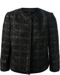 Veste en tweed noire