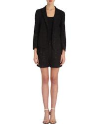Veste en tweed noire Chloé