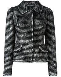Veste en tweed noire Dolce & Gabbana