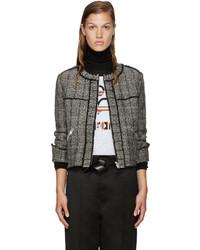 Veste en tweed noire Etoile Isabel Marant
