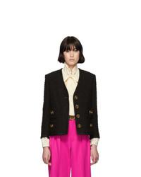 Veste en tweed noire Gucci