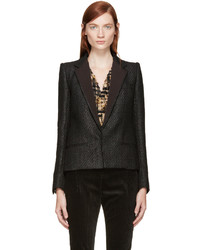 Veste en tweed noire Haider Ackermann