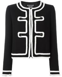 Veste en tweed noire Moschino
