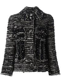 Veste en tweed noire Simone Rocha