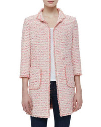 Veste en tweed rose