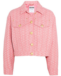 Veste en tweed rose Moschino