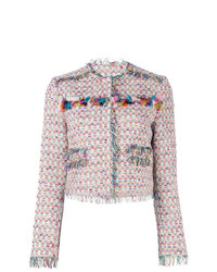 Veste en tweed rose MSGM