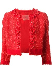 Veste en tweed rouge