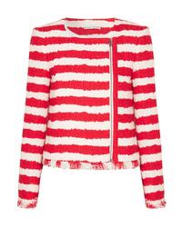 Veste en tweed rouge Alice + Olivia
