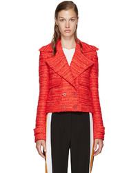 Veste en tweed rouge Altuzarra