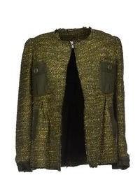 Veste en tweed vert foncé