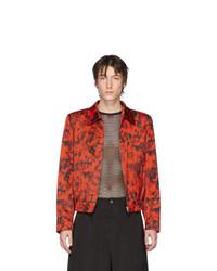 Veste harrington rouge et noir