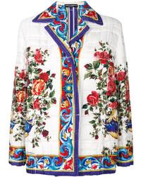 Veste imprimée blanche Dolce & Gabbana