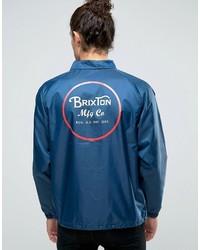 Veste imprimée bleue Brixton
