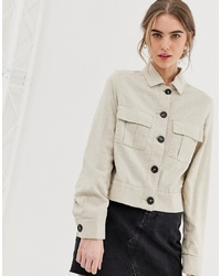 Veste militaire beige New Look