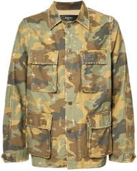 Veste militaire camouflage olive Amiri