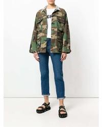 Veste militaire camouflage olive Forte Dei Marmi Couture