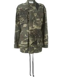 Veste militaire camouflage olive Faith Connexion