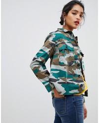 Veste militaire camouflage olive J.Crew Mercantile