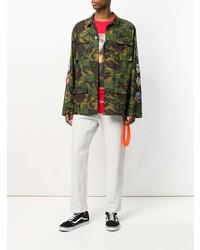 Veste militaire camouflage olive Off-White