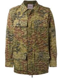 Veste militaire camouflage olive Palm Angels